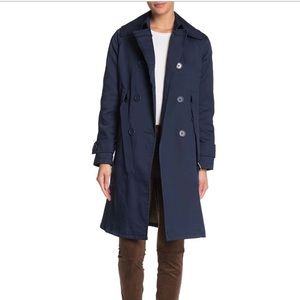 Max Studio Solid Double Breasted Trench Coat